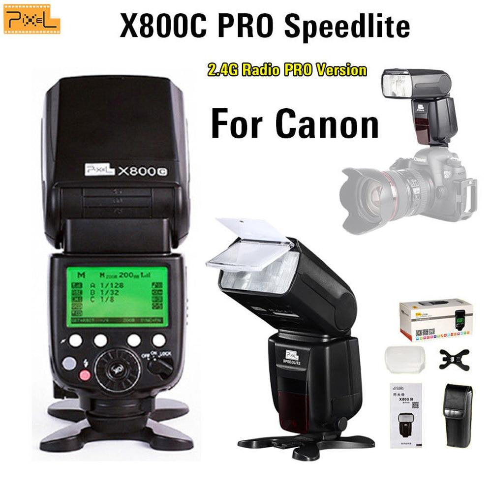 Flash Speedlite Pixel X800C PRO Wireless di Scatto Hot shoe flash USB Per Canon 5D 6D 7D Serie 800D 750D 700D 650D 1200D