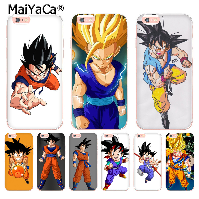 Maiyaca Dragon Ball Z Goku Dragonball Colored Drawing Soft Tpu Phone Case For Iphone 6s 6plus 7 7plus 8 8plus X 5 5s Case Cover Aliexpress