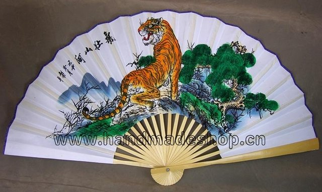 Promotional 4pcs/lot Free shipping Chinese traditional paper fan [ large size ]