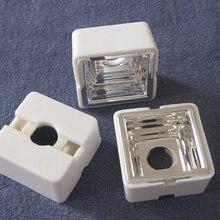 RYM-25 высококачественный Светодиодный отражатель, размер: 22,8X22,8X10,3 мм, с держателем Размер: 25X25X12,4 мм, степень: 90, чистая поверхность, поликарбонат
