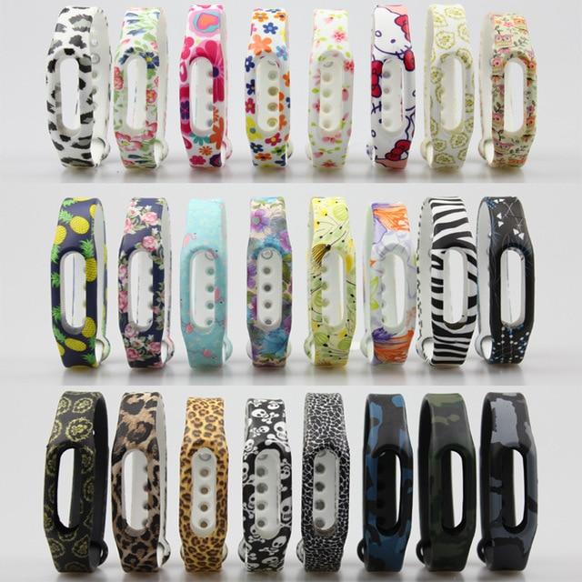 1 pc Coloré Silicone Poignet Bande Bracelet Dragonne Pour Xiaomi Miband Mi bande 1 & 1 S Bande À Puce