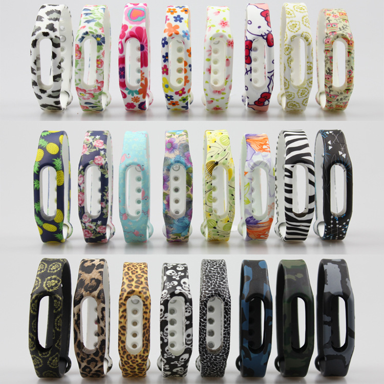 1pc Colorful Silicone Wrist Band Bracelet Wrist Strap For Xiaomi Miband Mi Band 1 & 1S Smart Band