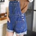 Verão Curto Macacão Para As Mulheres Combinaison Femme 2016 Mulheres Denim Macacão Calça Jeans Macacão