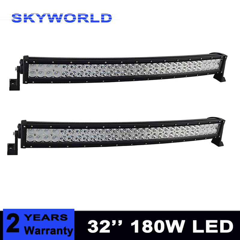 цена на 32inch 180w Curved LED Work Light Bar for Tractor Boat OffRoad 4WD 4x4 Truck SUV ATV Combo Beam