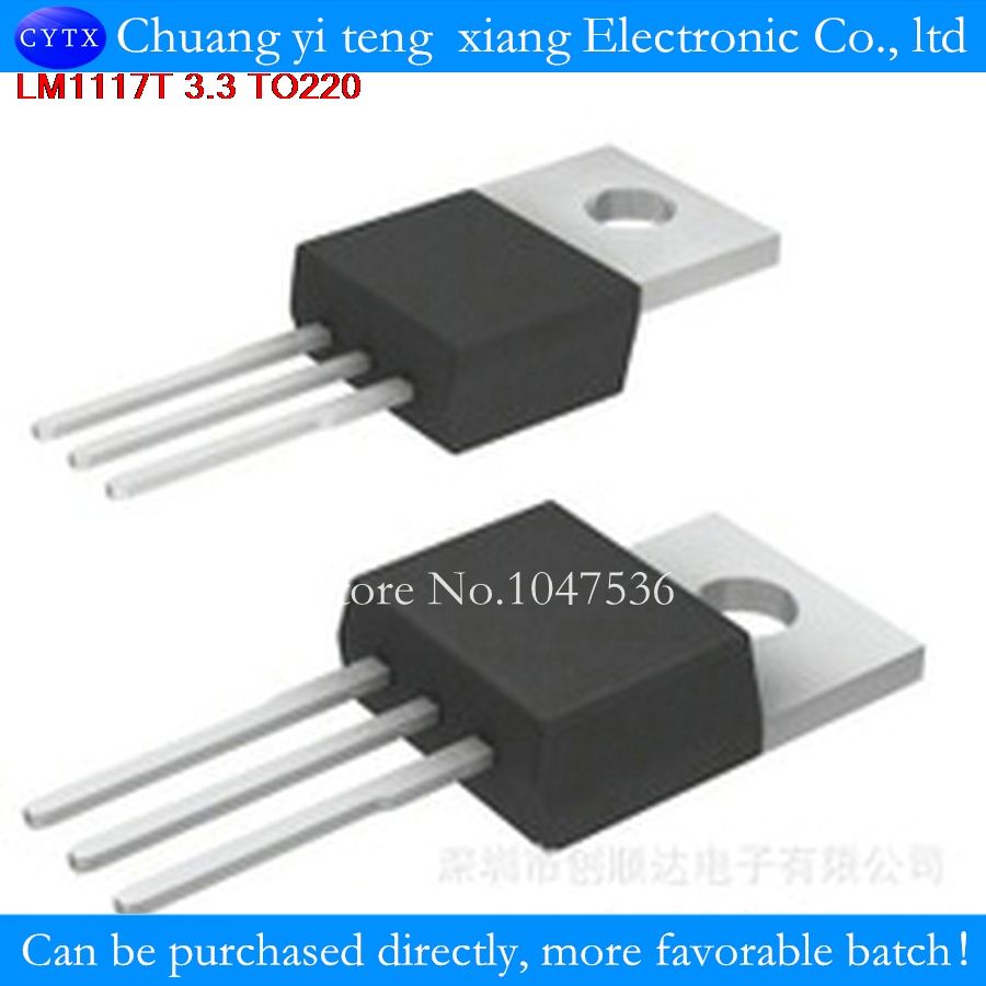 5 Pcs Lot Lm1117t 33 To220 Voltage Regulator Ic Supply A884 Adjustable Power 12 30v 5a Using Lm338