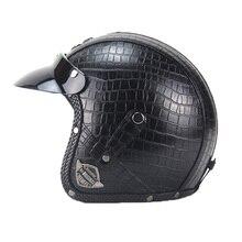Мотоциклы Аксессуары для электроники Защитное снаряжение индивидуализировать мотоциклетный шлем все ручной работы кожаный шлем