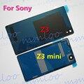 Habitação porta da bateria de vidro traseiro de volta caso capa para o sony xperia Z3 Compact Z3 mini M55W D5803 D5833 D6633 D6603 D6643 L55 cola