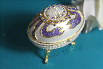 Special luxury Royal Music Box Animal Purple Crab Pearl Musical Jewelry Box Eggshell Music box for kid girl women Christmas gift