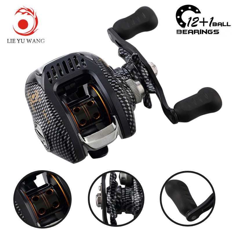 12+1BB 6.3:1 Left Right Hand Casting Fishing Reel CNC Fishing Reels Carp Bait Baitcasting Carretilha de pesca molinete Shimano smart baitcasting reel 6bb 6 2 1 right left hand reel molinete peche carretilha carretes pesca lure wheel fishing line winder