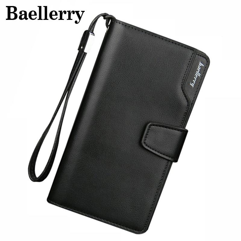 Baellerry Men Wallets Leather Men Purse Fashion Wallet