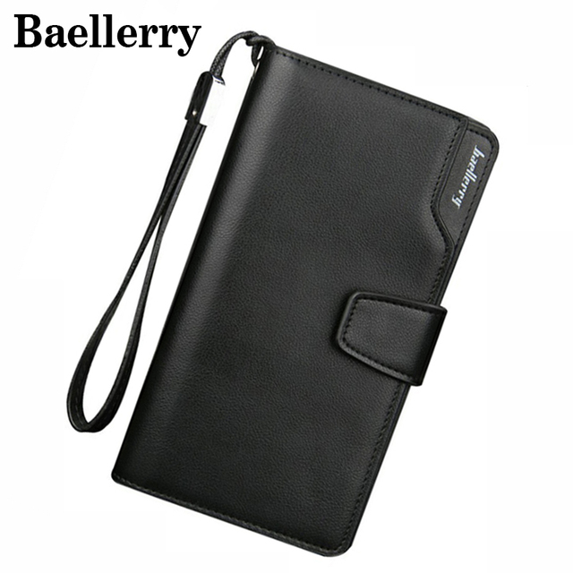 Baellerry Men Wallets Leather Men Purse Fashion Wallet Clutch Bag Long Male Wallet Hand Bag Card Holder carteira MWS002
