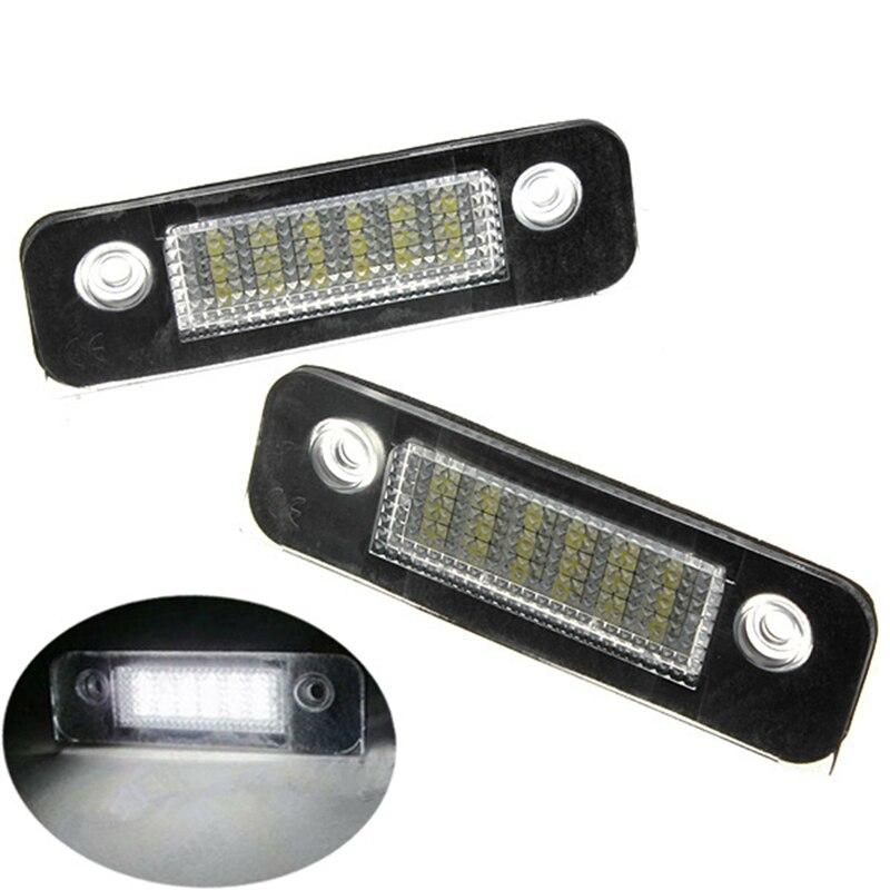 2шт/пара 12V 18 SMD светодиодные освещения номерного знака номерного знака лампы свет для Форд/Мондео/МК2 Белый