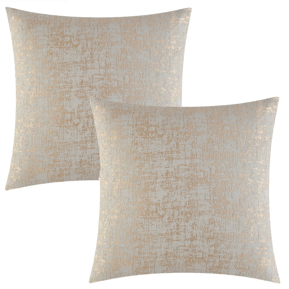 Gigizaza Textile Tan 20 X 20 Gigizaza Accent Silver Velvet Decorative Throw Pillow Cushion Covers Set Of 2 For Sofa Decoration Soft Thick Jacquard Chenille Throw Pillow Covers Decorative Pillows Inserts Covers