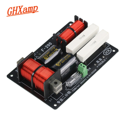 GHXAMP 650W 1300W 2 Way Crossover Audio Board Tweeter Bass Speaker Frequency Divider For 5-8Ohm Stage Speaker Filter 12dB 1PCS