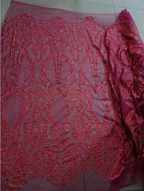 Nowy nabytek z klejone brokat afryki tiul koronki tkaniny najnowszy CiCi-52427 afryki francuski koronki tkaniny