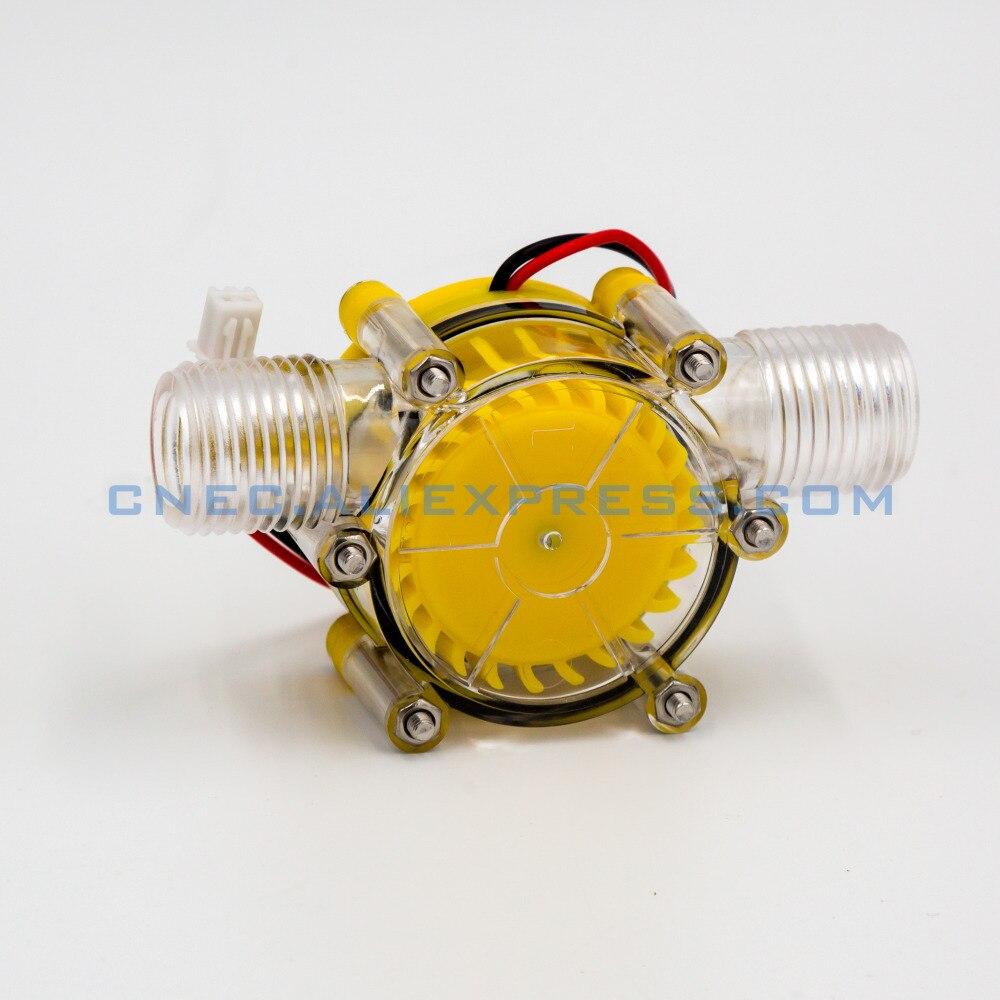 Translucide 12 v/10 w DC débit d'eau générateur turbine générateur hydroélectrique micro hydro générateur Débit D'eau Du Robinet Hydraulique DIY