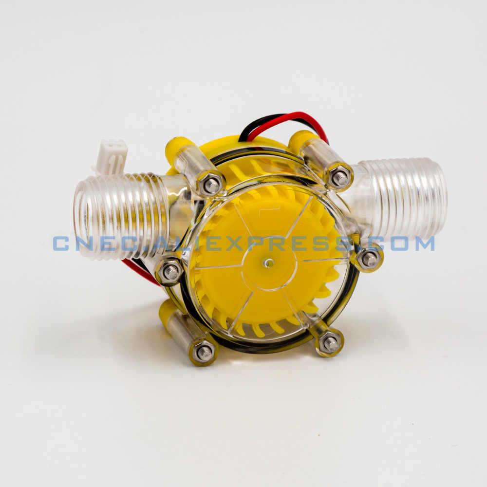 translucent 12V/DC 10W Water Turbine Generator Micro Hydroelectric DIY LED  Power DC 5V NEW