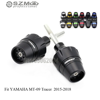 For YAMAHA MT09 Tracer FJ-09 2015-2018 16 17 Frame Sliders Crash Protector Motorcycle Accessories Falling Protection With Logo