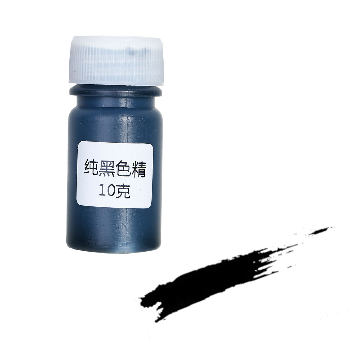 Doreen Box Resin Jewelry Tools Pigment Dye Black 49mm X 22mm,1 Bottle(Contain Liquid,Approx 10 Grams) 2017 New