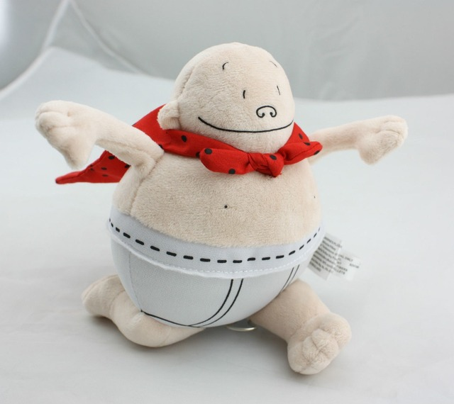 "Dan Pilkey Captain Underpants Merry Makers 2002 Plush Stuffed Doll Book Toy 8"" Stuffed & Plush toy"