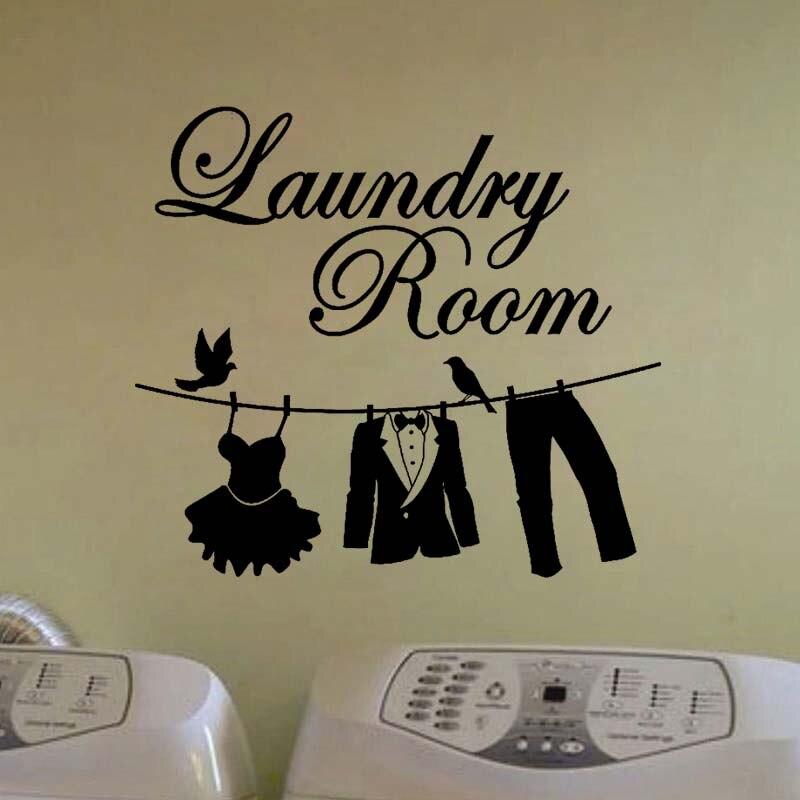 Горячие Laundry Room Ванная комната Правила ванной стены наклейки Домашний Декор Туалет Наклейка DIY Съемные Виниловые наклейки jg2342