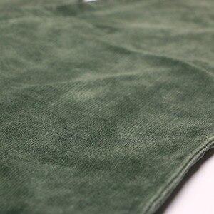 Image 5 - Johnature 2017 calças de veludo feminino do vintage outono inverno casual engrossar cintura elástica quente solto algodão plissado