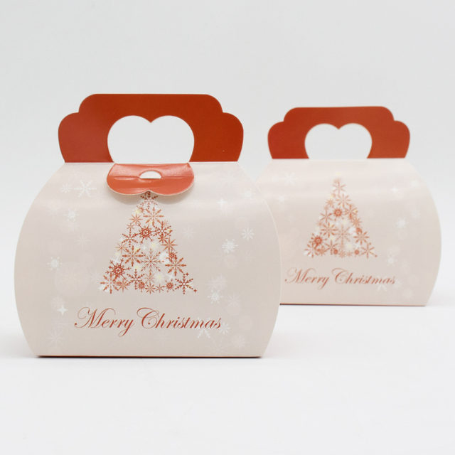 Wedding Take Home Gifts: 30 Classic Merry Christmas Cake Slice Take Out Box,Bakery