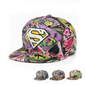 Новая Мода hat cap Бейсболки хип-хоп Спорт супермен Snapback шляпа унисекс плоские брим шляпы для мужчин и женщин cap