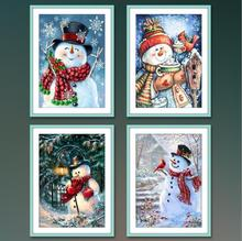 Diamond Painting Christmas Snowman Mosaic Embroidery Winter 5D DIY Full Square Cross Stitch