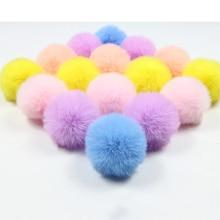 10 PCS DIY Custom Multicolor Faux Fur Pompom Hair Ball 5cm small Pompon Rubber band Hats Clothing Accessories Christmas Makeup