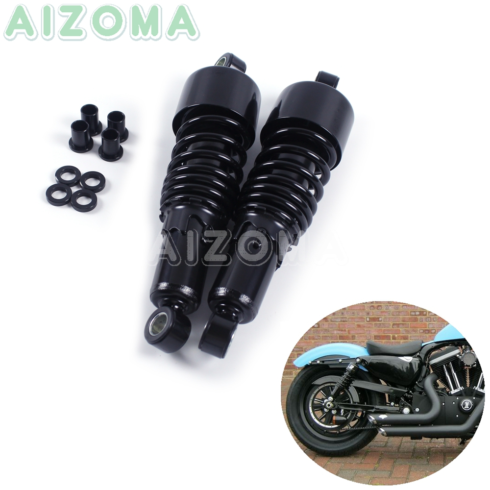 """Motorcycles Rear Shocks Progressive Suspension Black  267mm/10.5"""" Absorber for Harley Sportster Touring FLH/FLT 80 17 Dyna 91 16-in Covers & Ornamental Mouldings from Automobiles & Motorcycles"""