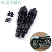 "Motorcycles Rear Shocks Progressive Suspension Black  267mm/10.5"" Absorber for Harley Sportster Touring FLH/FLT 80 17 Dyna 91 16