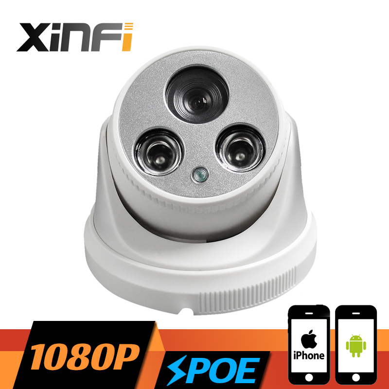 ФОТО XINFI HD 1920*1080P POE camera 2.0MP night vision Indoor network CCTV IP camera P2P ONVIF 2.0 PC&Phone remote view