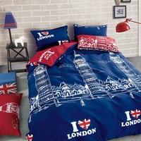Liliyaロマンチックグリーンカラー4ピースツイン/フル/クイーンサイズ寝具セット高品質簡単な布団カバー# c-
