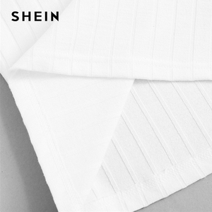 Image 5 - SHEIN Beige Slim Fitted Solid Cami Top Women 2019 Summer Party Minimalist Basics Spaghetti Strap 2019 Vests