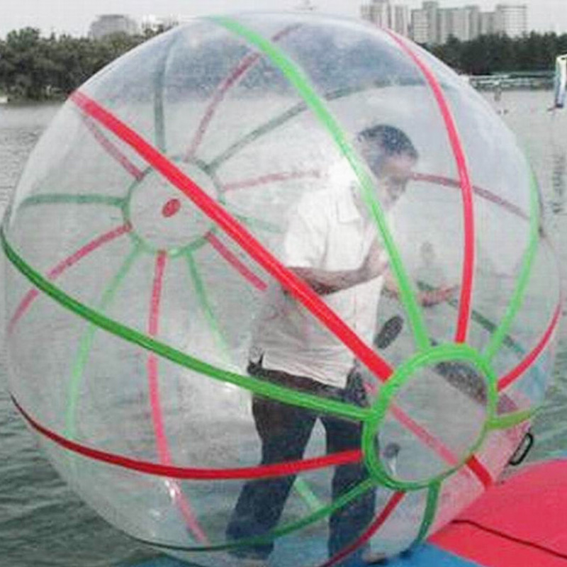 Colorful Line Water Walking Ball 1.5M Diameter Zorb Ball For Water Games Top Quality TPU Water Balloon/Dance Ball/Hamster Ball