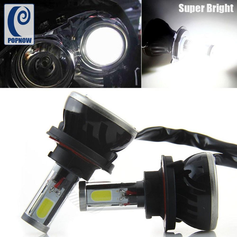 Popnow 1set 80w h13 g5 car cob led headlight bulbs hi lo beam 8000lm canbus