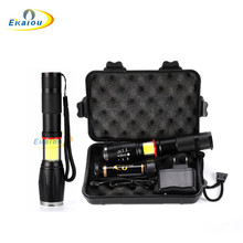 Cob led flashlight   XML-T6 Zoom Torch 1600 Lumen Portable floodlight 5 Modes work light Camping for 18650 Battery charger  SET sitemap 12 xml