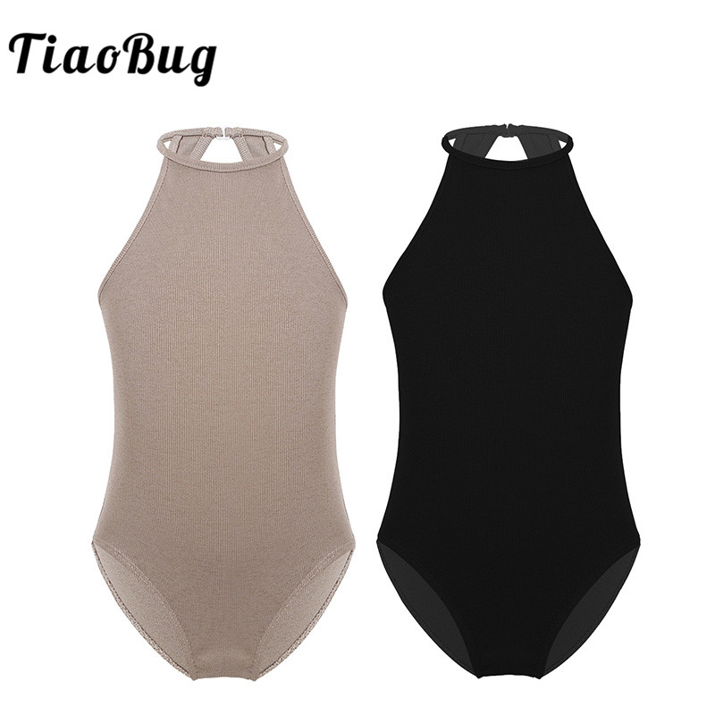 TiaoBug Kids Teens Sleeveless Cutout Profession Ballerina Competition Ballet Dance Leotard Girls Gymnastics Leotard Gym Bodysuit