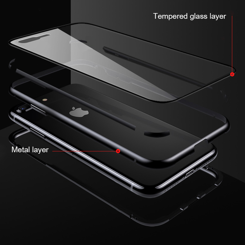 Magnetic Case for Xiaomi mi 9 SE Case Clear Glass Hard Back Cover Metal Frame Protective Coque Funda For Mi 9 SE mi9 se 5 97 quot in Fitted Cases from Cellphones amp Telecommunications