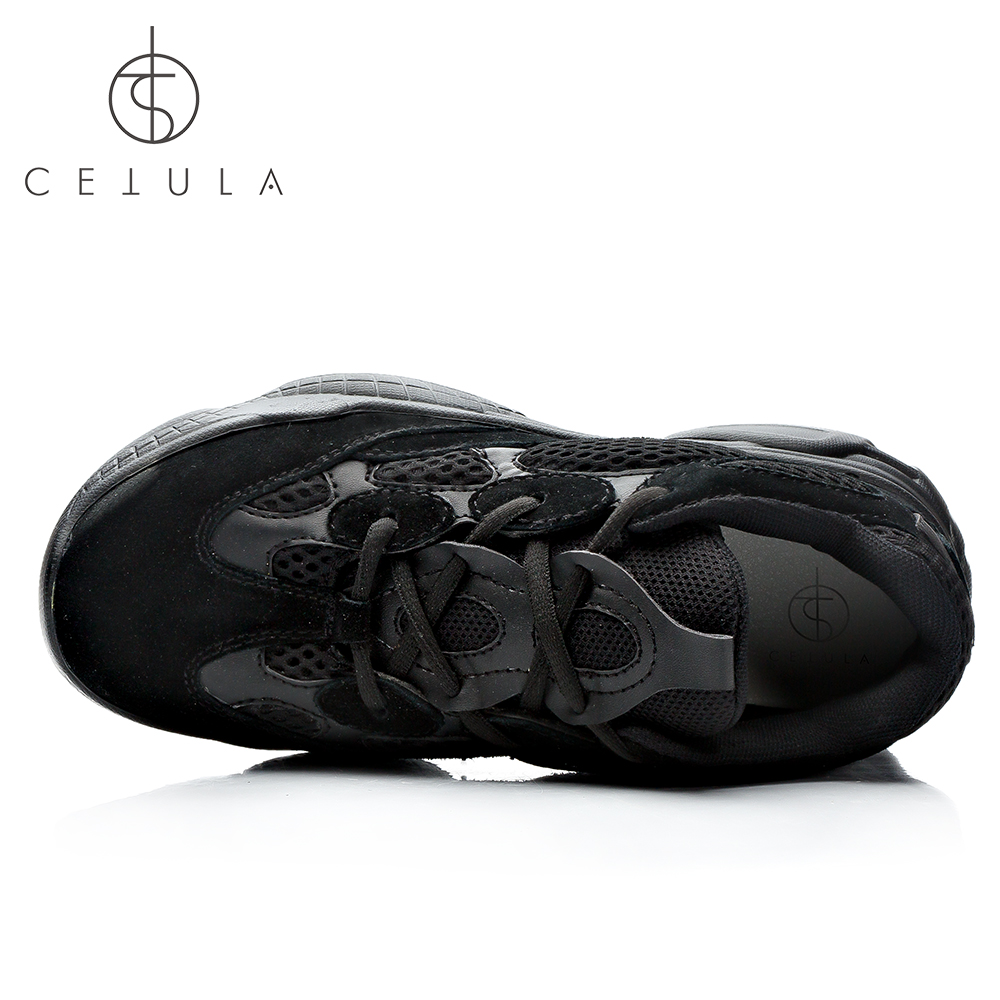 f5a5b3239246fa  Cetula 2018 Handcrafted Lace up Nubuck Meshes Quilted Effect Atheleisure  Female Oversized Falt Trainers ft. Massive Out sole-in Women s Flats from  Shoes on ...