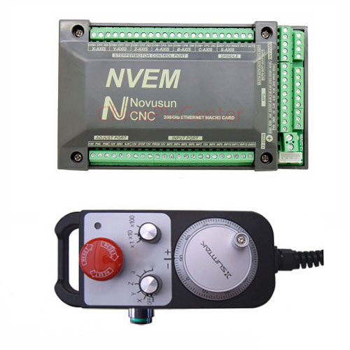 NVEM Mach3 USB CNC Controller CNC Router Engraving Drilling Milling Machine Handwheel MPG eur free tax cnc 6040z frame of engraving and milling machine for diy cnc router