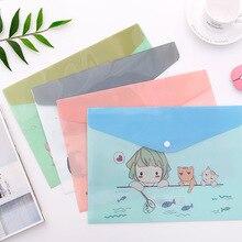 A4 Cartoon Animal Document Folder Waterproof File Folder Bag Students Plastic Document Organizer Case For Office School Supplies