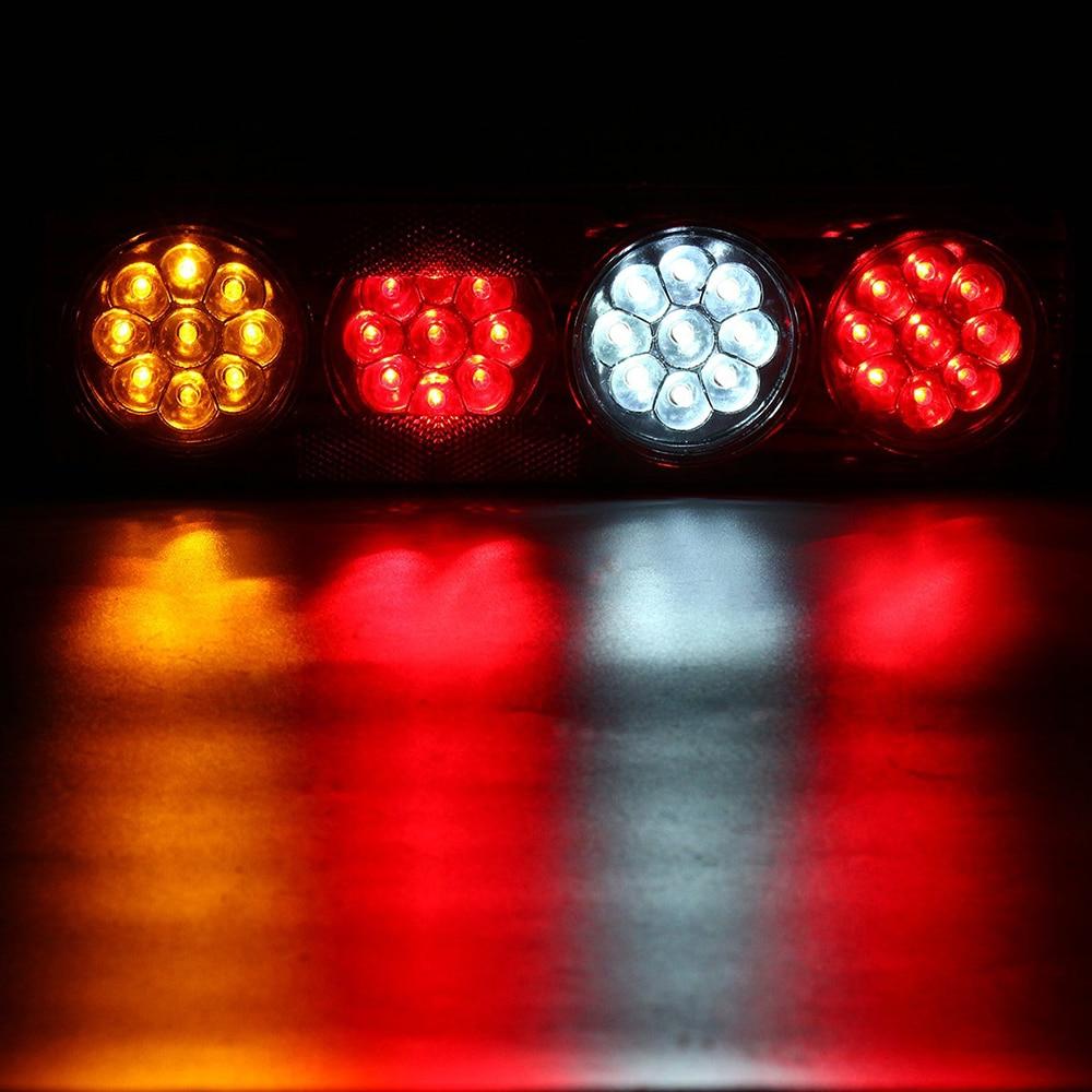 2pcs Rear 12V//24V Light for Truck 36 LED Lamp Tail Lights Boat Trailer Camper