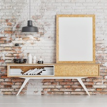 Laeacco Brick Wall Desk Bottles Photography Backgrounds Thin Vinyl Digital Customized Photographic Backdrops For Photo Studio