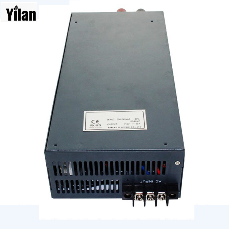 800W 0~15V adjustable 54A 220V INPUT Single Output Switching power supply for LED Strip light AC to DC best quality 12v 15a 180w switching power supply driver for led strip ac 100 240v input to dc 12v