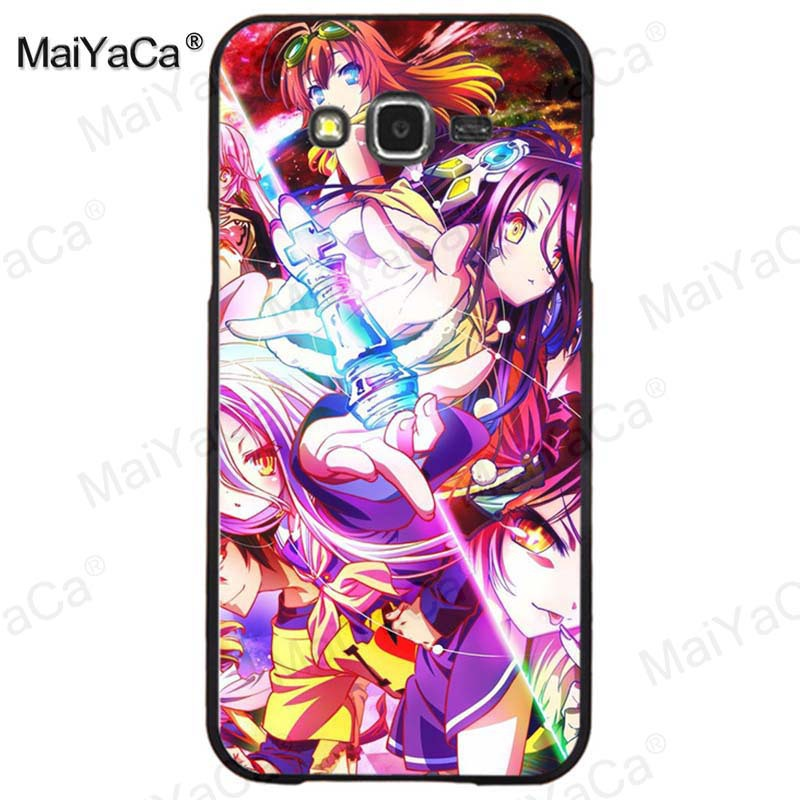 MaiYaCa No Game NO life Top Detailed Popular hard plastic pc phone case for samsung J5 j1 j3 j7 note 3 note4 note5 case coque