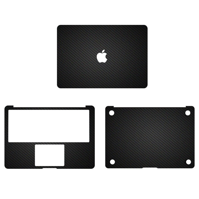 Matte black lines pattern vinyl full body cover laptop decal stickers for apple macbook pro 13