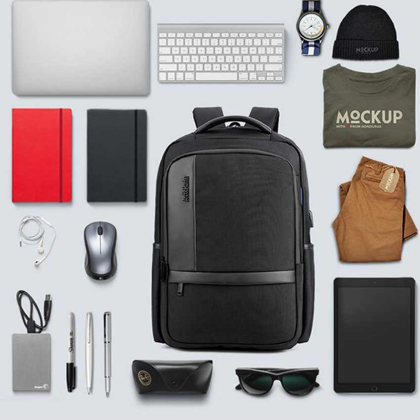 purchase cheap 74c69 d4cfe Backpack Multifunction USB Charging 18 Inch Laptop Bag Large Capacity  Waterproof Travel Bags For Macbook Air 13 Pro 15