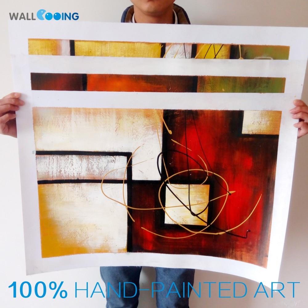 3 stykke håndmalet lærred olie malerier Moderne abstrakt - Indretning af hjemmet - Foto 3